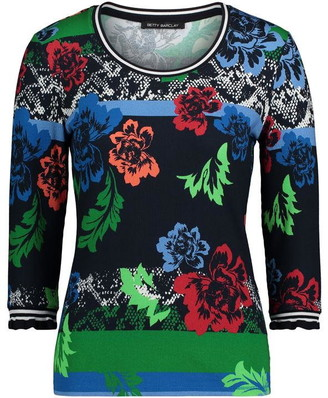 Betty Barclay Ribbed Floral Top