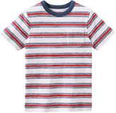 Joe Fresh Kid Boys' Print Crew Neck Top, Crimson (Size M)