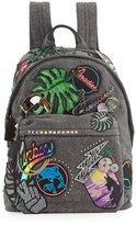 Marc Jacobs Paradise Biker Denim Backpack, Black/Multi