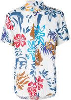 Drumohr flower print shirt - men - Linen/Flax - M