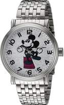 Disney Mickey Mouse Men's W002322 Mickey Mouse Analog Display Analog Quartz Silver Watch