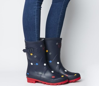Joules Molly Wellies Navy Multi Spot