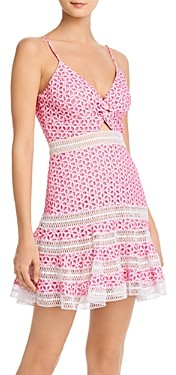Bardot Camille Twist-Front Eyelet Dress