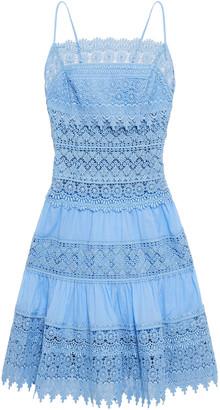Charo Ruiz Ibiza Joya Paneled Cotton-blend Guipure Lace And Voile Mini Dress