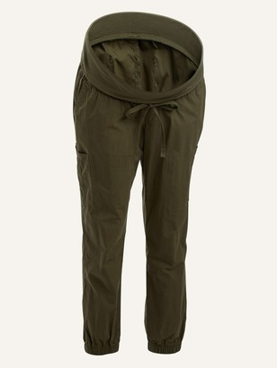 Old Navy Maternity Rollover-Waist Tapered Jogger Cargo Pants