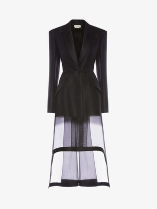 Alexander McQueen Wool Silk Organza Fil coupe Degrade Jacket
