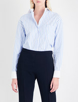 Alexandre Vauthier Striped cotton-poplin shirt