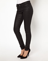 Pepe Jeans London Pixie Coated Skinny Jeans - Black