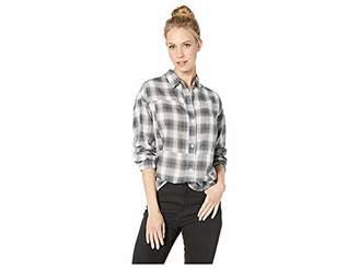 Hurley Women's Apparel Women's Plaid Dolman Long Sleeve Button Down Shirt