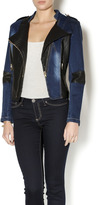 Paparazzi Faux Leather Denim Jacket