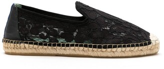 Blue Bird Shoes Floral Lace Slip-On Espadrilles