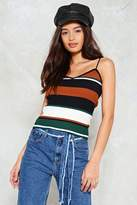 Nasty Gal Line Dance Striped Top