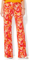 New York & Co. Drawstring Palazzo Pant - Scroll Print