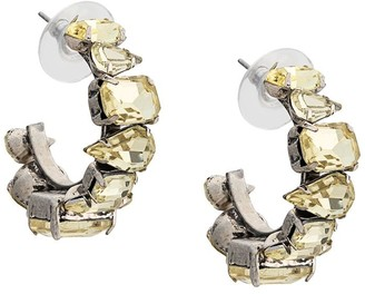 Dannijo Isa embellished hoop earrings