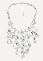Bebe Crystal Drop Bib Necklace