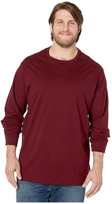 Polo Ralph Lauren Big & Tall Big Tall Long Sleeve Solid Crew Neck Tee (Classic Wine) Men's Clothing
