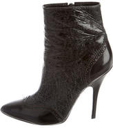 Tory Burch Crackled Ankle Boots