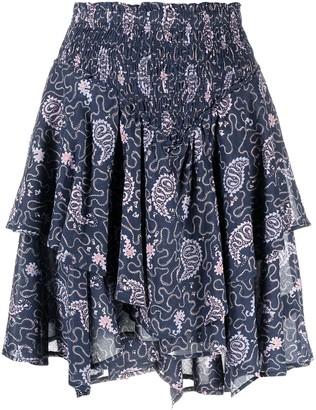 Etoile Isabel Marant Paisley-Print Layered Cotton Skirt