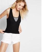 Express one eleven ribbed v-neck tunic tank
