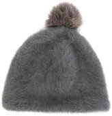 CA4LA pom pom beanie - women - Fox Fur/Nylon/Angora/Wool - One Size