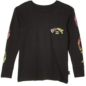 Billabong Kids Arch Long Sleeve T-Shirt (Toddler/Little Kids) (Black) Boy's Clothing
