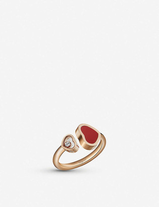 Chopard Happy Hearts 18c rose-gold ring