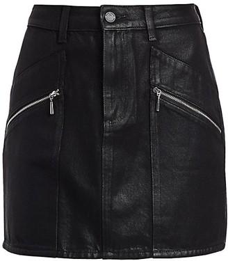 Paige Aideen Coated Denim Skirt