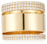 Lana Vanity Expose 14K Gold & Diamond Ring, Size 7