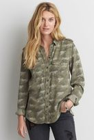 American Eagle Outfitters AE Camouflage Utility Shirt