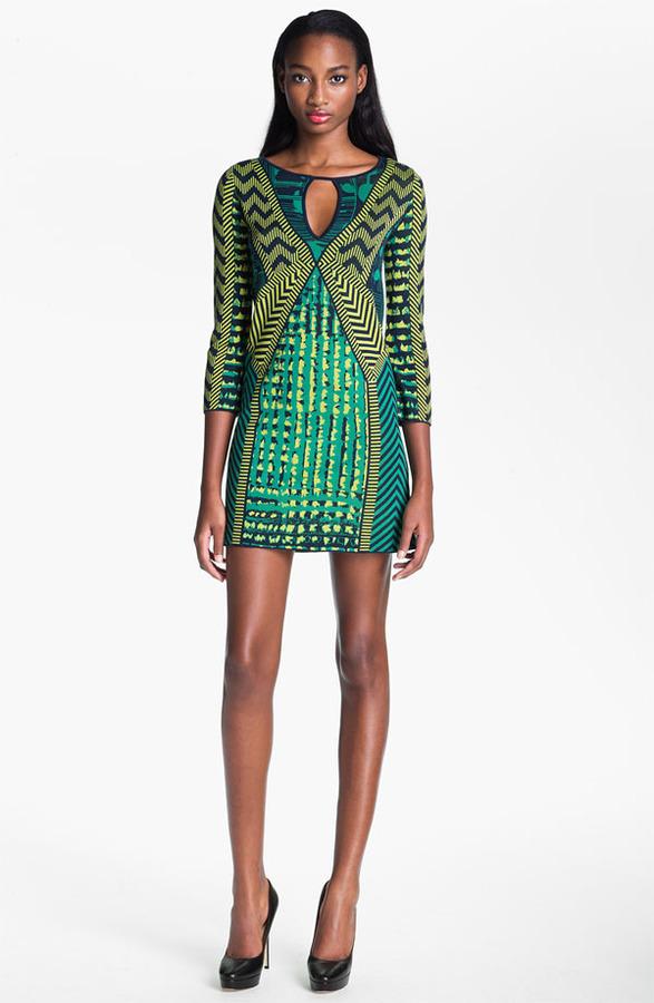 BCBGMAXAZRIA 'Yuna' Silk Blend Sweater Dress