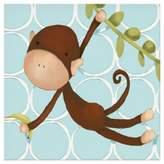 Oopsy Daisy Fine Art For Kids Hanging Monkey Canvas Wall Art