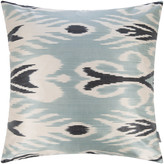 Les Ottomans - Silk Ikat Cushion - 60x60cm - Blue Decorative Pattern