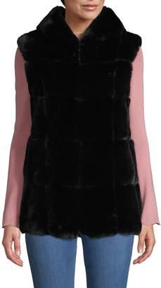 Belle Fare Hooded Faux Fur Vest