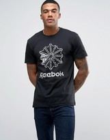 Reebok Classic Large Starcrest T-shirt In Black Bk4183