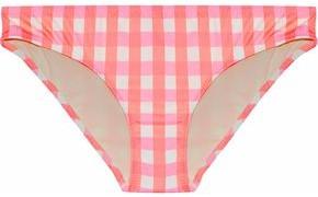 Solid & Striped Checked Low-rise Bikini Briefs