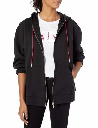Armani Exchange A|X Women's Classic Zip Up Sweatshirt with Drawstring Hood