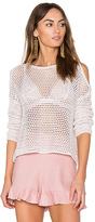 John & Jenn by Line Faith Cold Shoulder Sweater in Beige. - size L (also in M,S,XS)