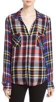 L'Agence Women's Plaid Flannel Shirt