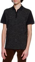 Lanvin Slub-Knit Polo Shirt, Navy