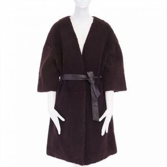 Petar Petrov Purple Shearling Coats