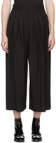 McQ by Alexander McQueen Black Pleated Wide-Leg Trousers