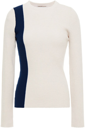 3.1 Phillip Lim Two-tone Ribbed Wool-blend Sweater