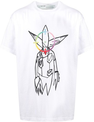 Off-White x Futura alien print T-shirt