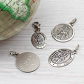 Hurleyburley man Personalised Silver St Christopher Charm