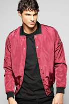 Boohoo Lightweight MA1 Nylon Jacket With Poppers
