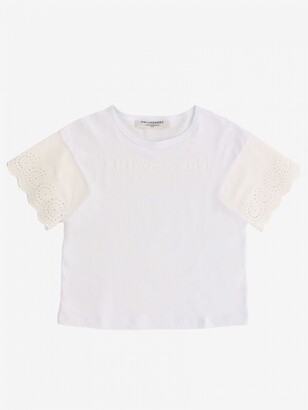 Philosophy di Lorenzo Serafini T-shirt With Embroidered Sleeves