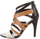 Vera Wang Leather Multistrap Sandals