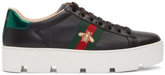 Gucci Black Ace Platform Sneakers
