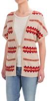 Pendleton Aztec-Print Cardigan Sweater - Short Dolman Sleeve (For Women)