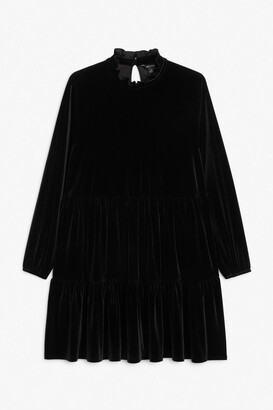Monki Babydoll velvet dress